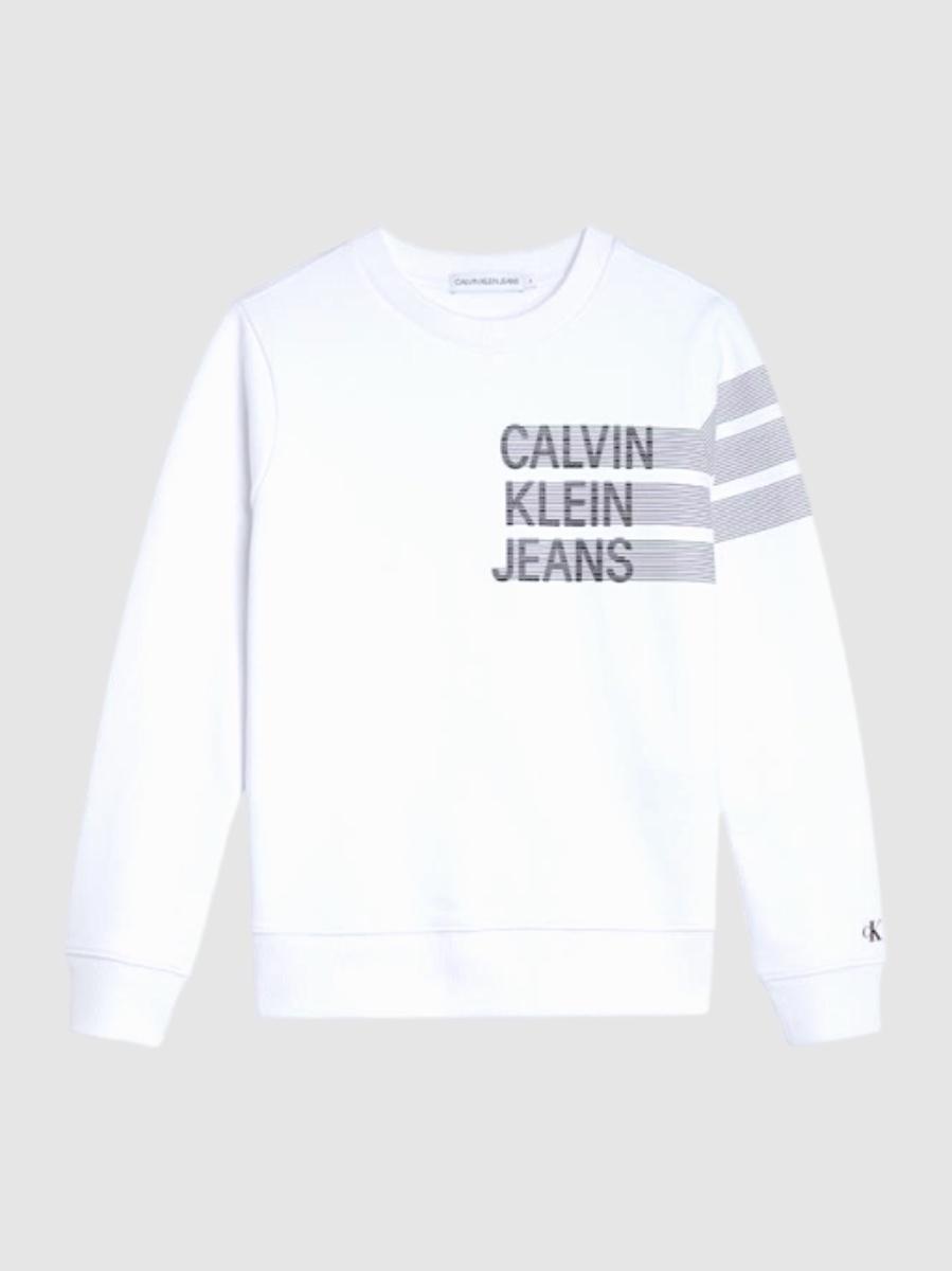 CK פוטר לבן לוגו אפור מידות 4-16