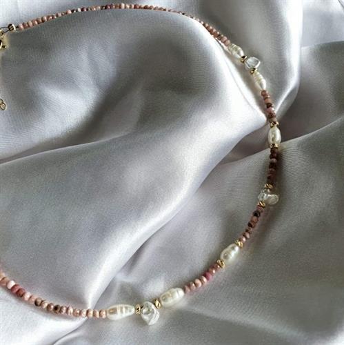 שרשרת רוני- זהב ורוד