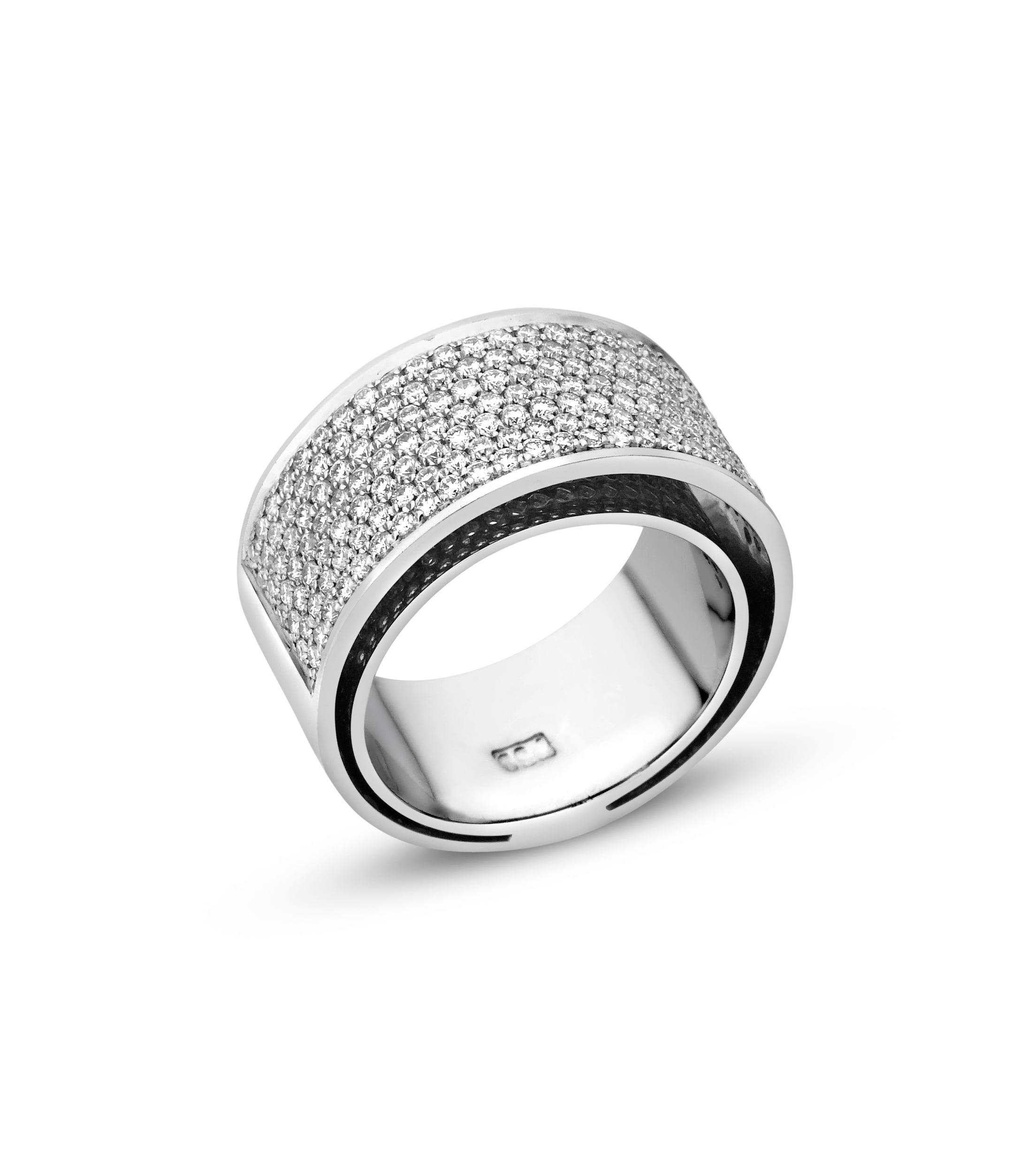 טבעת בתוך טבעת בזהב ויהלומים 1.85 קראט