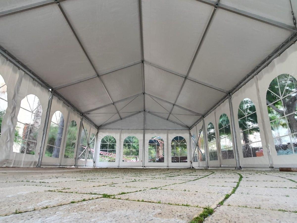 אוהל קבוע ענק במידה 10X21 אלומיניום חברת ARPO