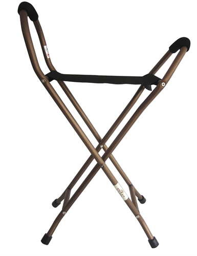 מקל כסא 4 רגליים - עם מושב בד