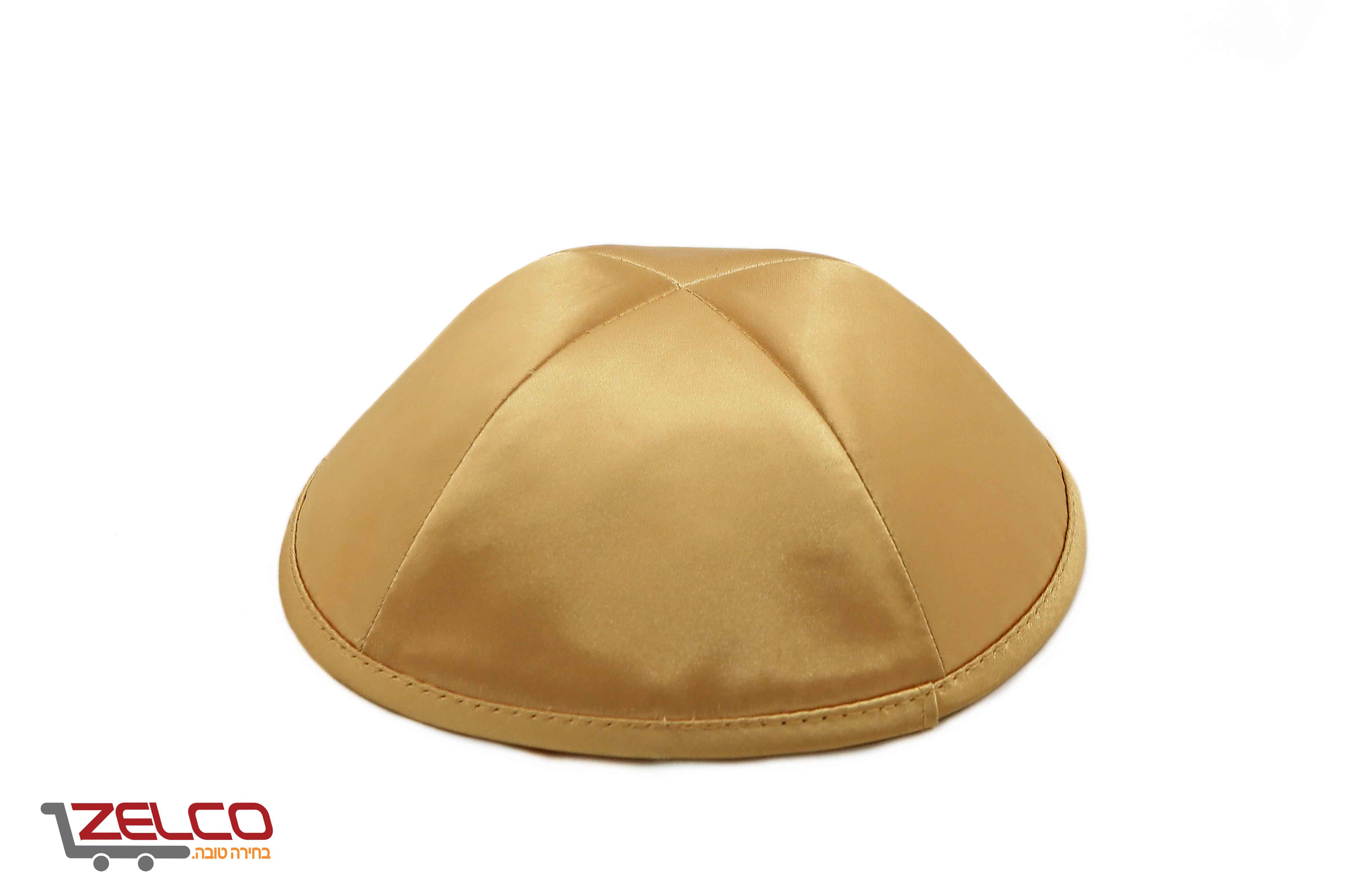 כיפה סאטן בצבע זהב