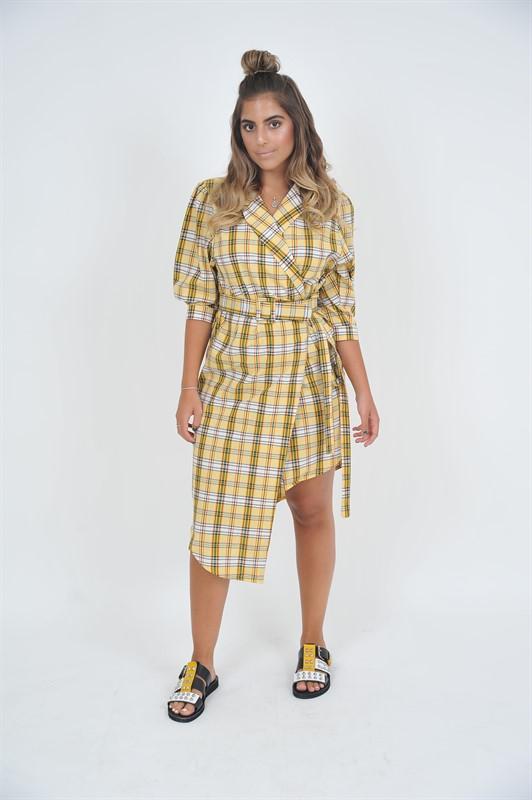 שמלת משבצות דגם סרילנקה