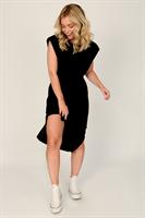 שמלת כריות לין שחורה