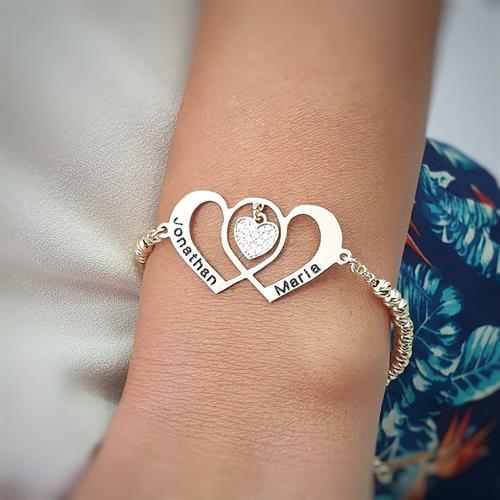 צמידים לבבות מתחברים- יום האהבה