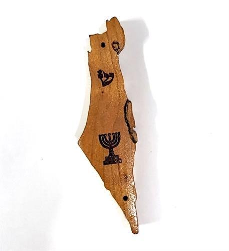"""בית מזוזה ארץ ישראל עץ מהגוני לקלף 7.5 ס""""מ M169"""