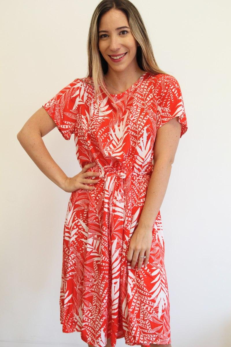 שמלת דור אדום לבן