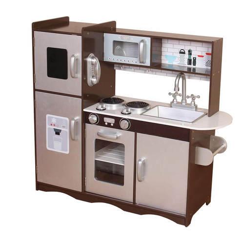 מטבח עץ לילדים חום מיוחד מדגם PLK502