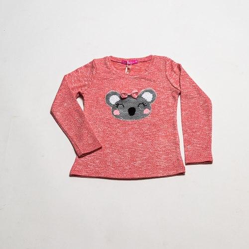 חולצת בנות לייקרה קואלה ורודה