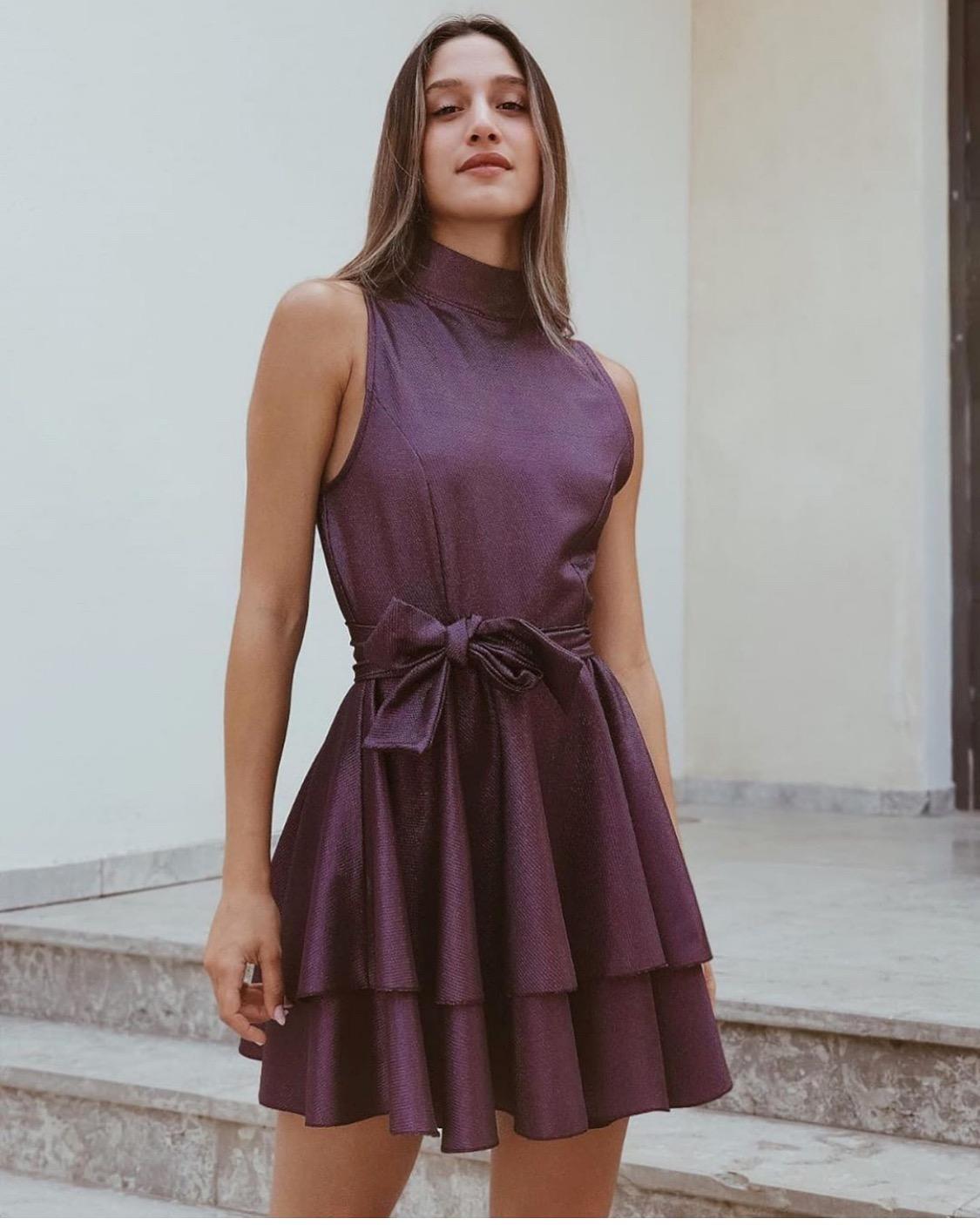 שמלת מיה קלוש לורקס - סגולה