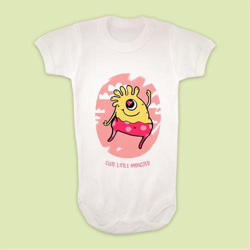 בגד גוף לתינוק Cute Little Monster