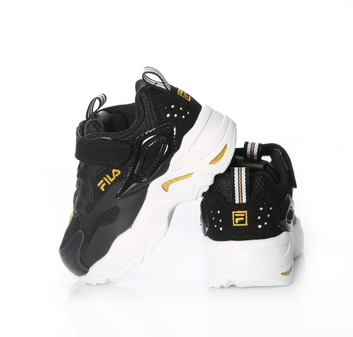 נעלי ספורט שחור/זהב FILA  - מידות 22-36