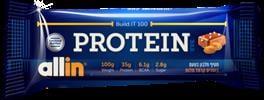 חטיף חלבון 100 גרם שוקו פאדג allin