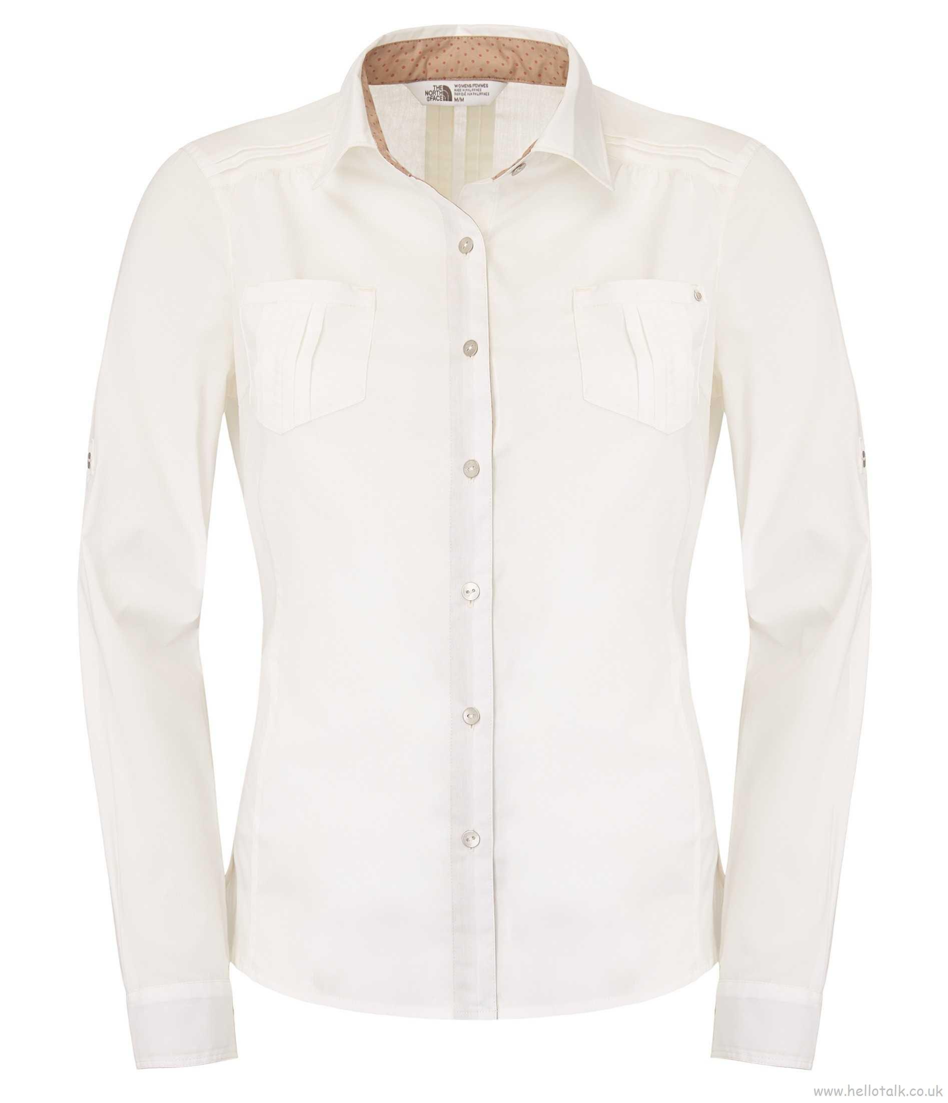 חולצת נשים אופנתית נורט פייס מדגם The North Face Women plaid shirt gardenia white