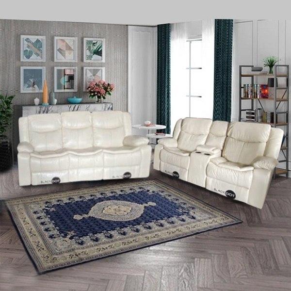 ספה 2+3 מושבים ג'ק מרלו (עור בז ')