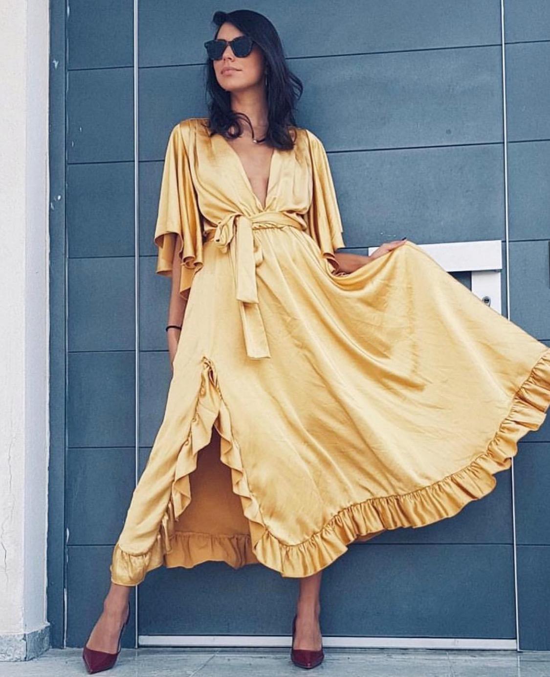 שמלת פנלופי - צהובה