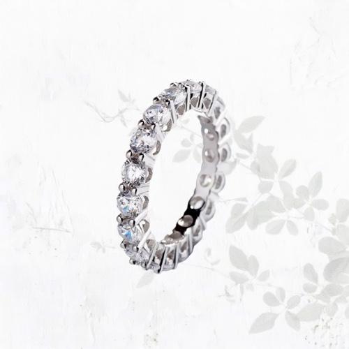 טבעת Ros כסף -בשילוב זירקוניום AA