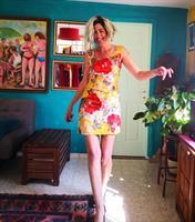 שמלת מיני פרחונית מידה S/M