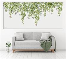ציור של עלים ירוקים