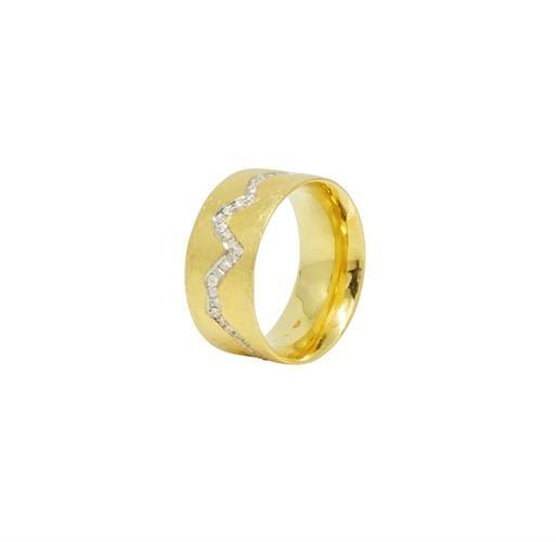 טבעת זהב 18K משובצת יהלומים 0.35 קראט