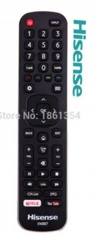 שלט מקורי לטלוויזיה חכמה הייסנס Hisense SMART TV EN2B27D דגם : HD1