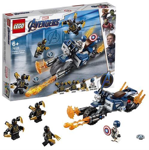 לגו MARVEL הנוקמים קפטן אמריקה התקיפה 76123