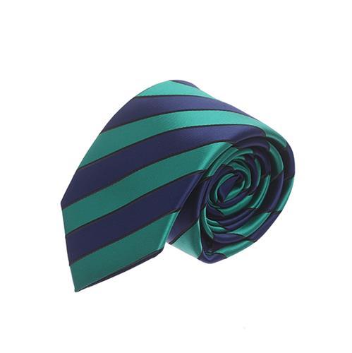 עניבה פסים כחול ירוק