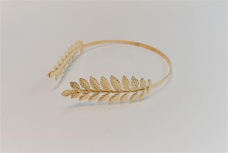 קשת זהב ענף עלים זהב - קשת הפוכה ממתכת