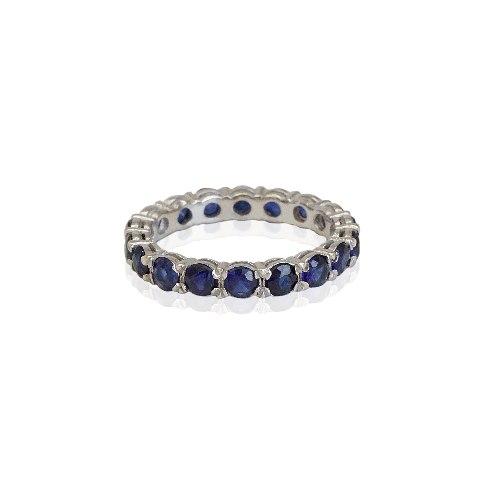 טבעת איטרניטי ספיר 3 קראט