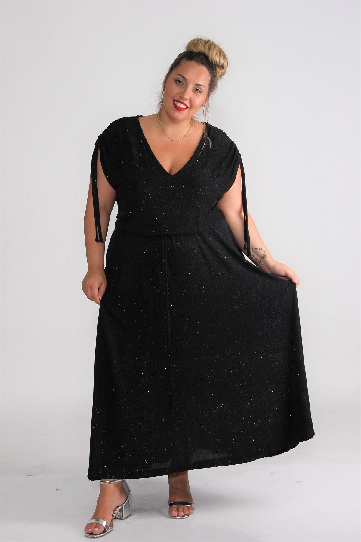 שמלת סינדרלה לורקס חלק שחור