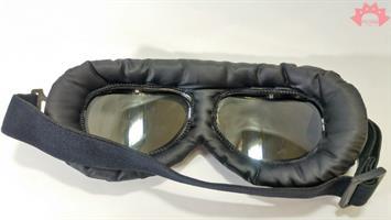 משקפי רוח שחור כסף - סטימפנק - משקף STEAMPUNK - מידברן