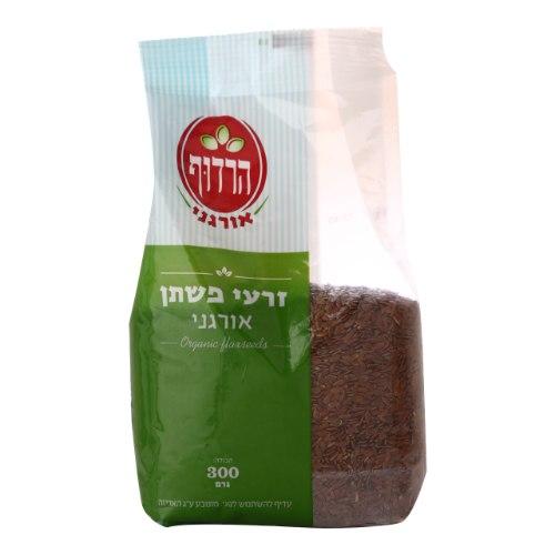 זרעי פשתן אורגניים הרדוף - 300 גרם