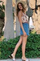 חצאית מיני ג'ינס כפתורים
