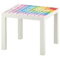 1 יח' טפט דביק מותאם לשולחן (LACK)- לוח הכפל