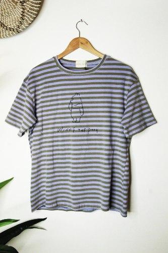 חולצת פו פסים סגול