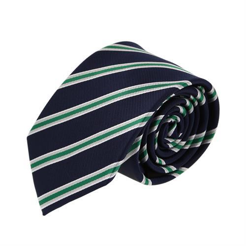 עניבה פסים קלאסית ירוק כחול