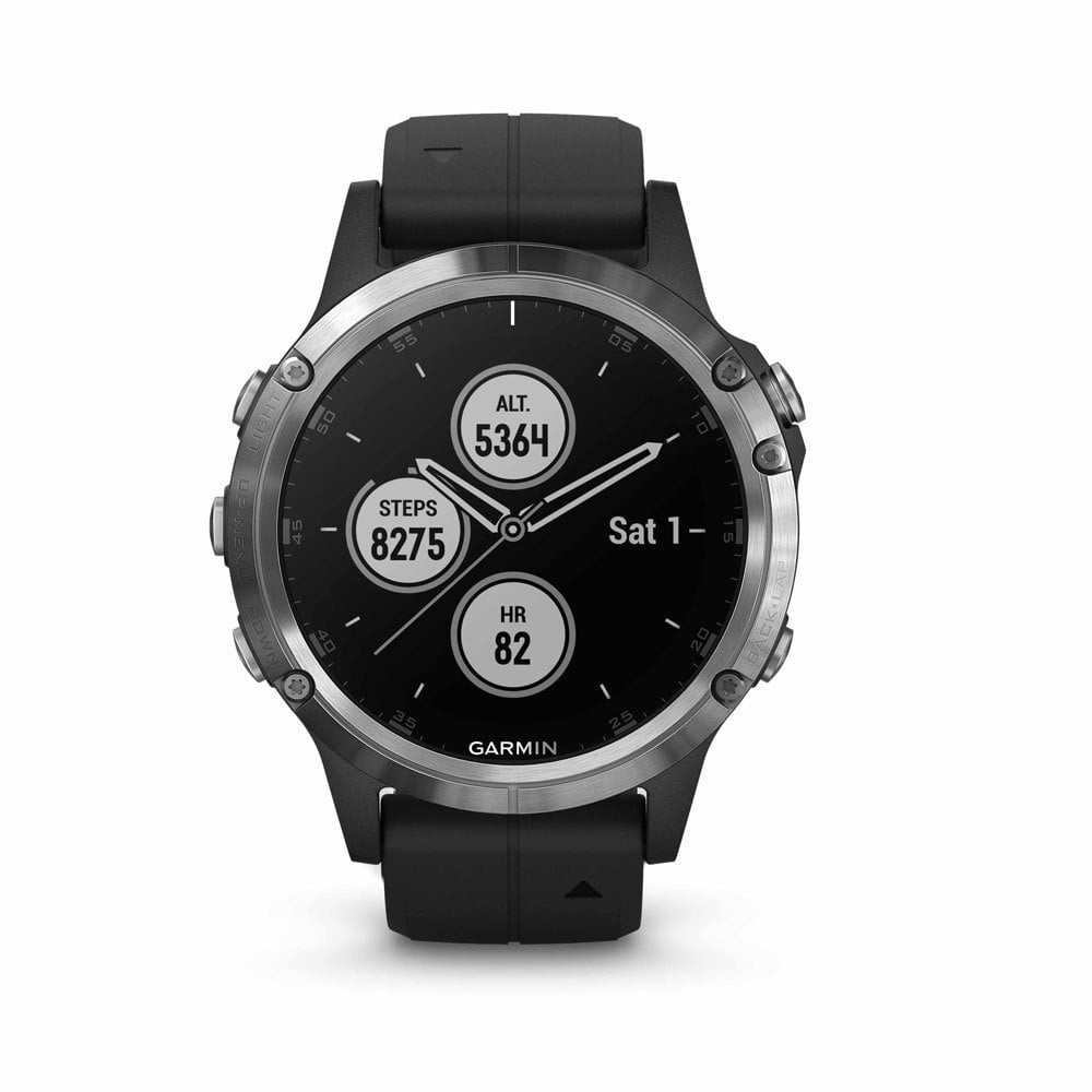 Garmin fenix 5 Plus Silver with Black Band