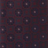 עניבה קלאסית עיגולים גדולים כחול אדום