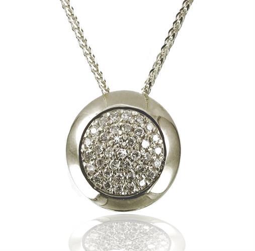 שרשרת ותליון יהלומים דגם 'אלבה' עשוי בזהב 14 קראט