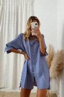 שמלת טוקיו אוברסייז מכופתרת