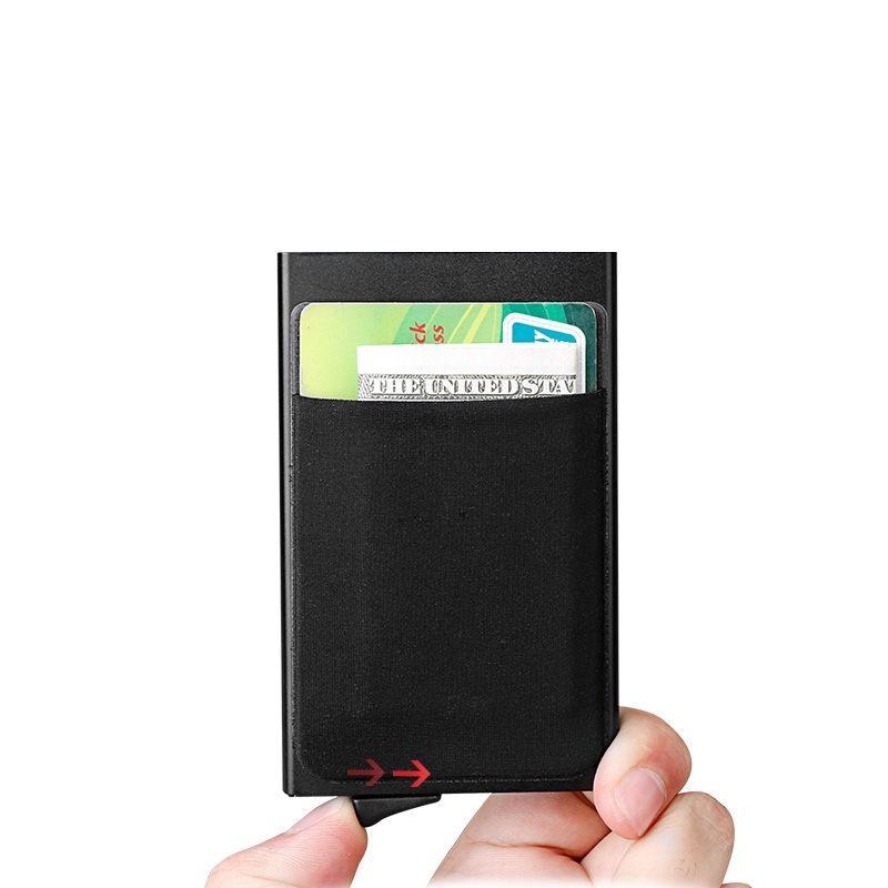 ארנק אלומיניום עם תא למטבעות