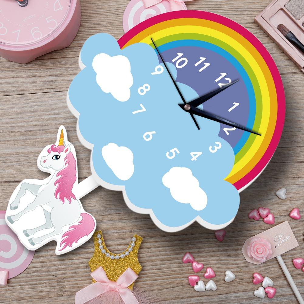שעון קיר מעוצב- חד קרן