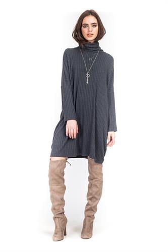 שמלה קייסי אפור כהה
