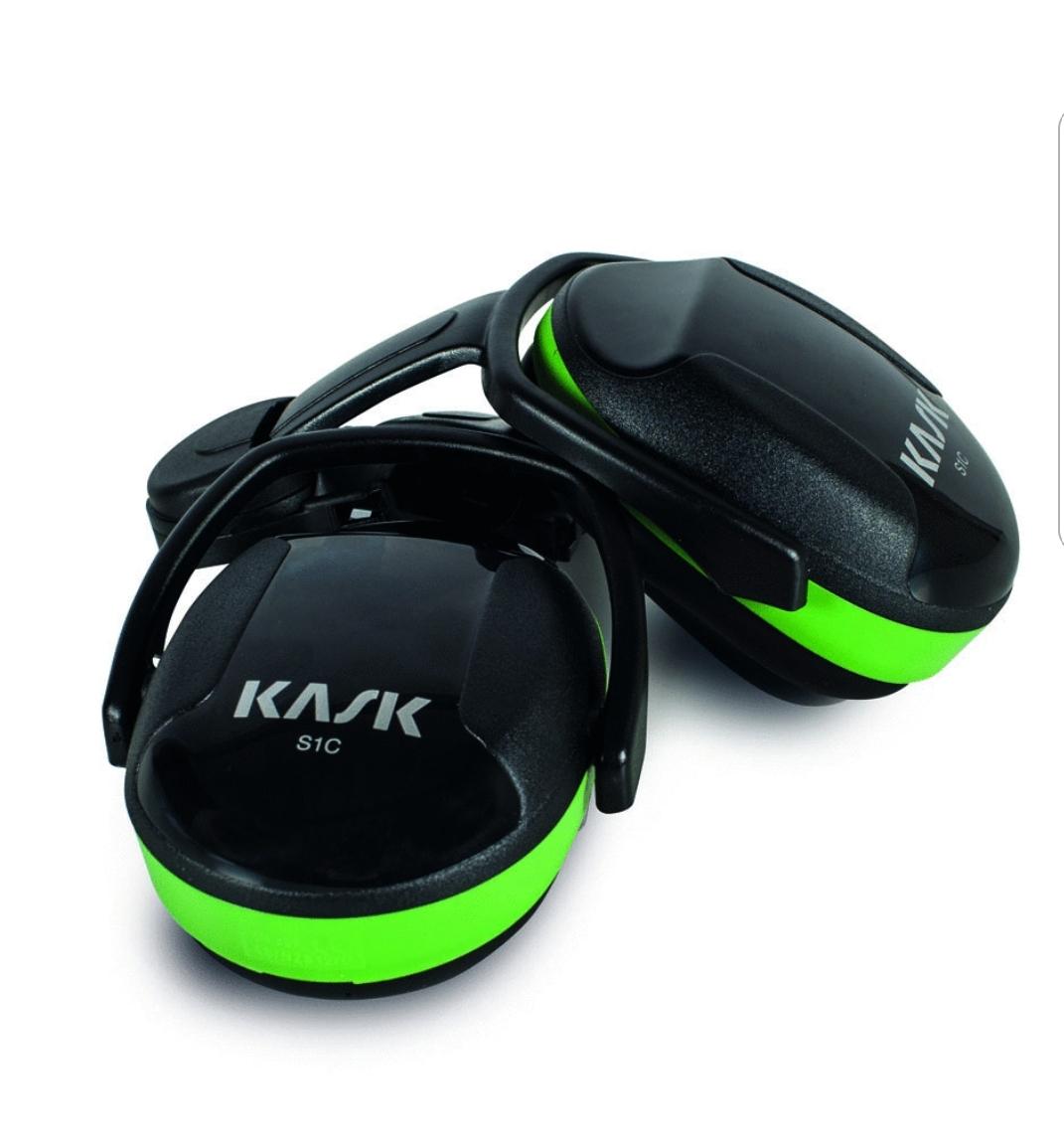 אוזניות מגן לקסדה Kask ירוק