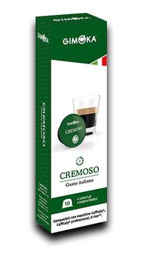 10 קפסולות תואמת Caffiataly ג'ימוקה קרמוסו Gimoka Cremoso