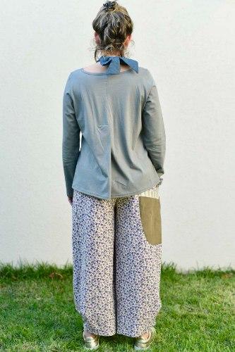 חולצה מדגם קשת בצבע אפור-זית