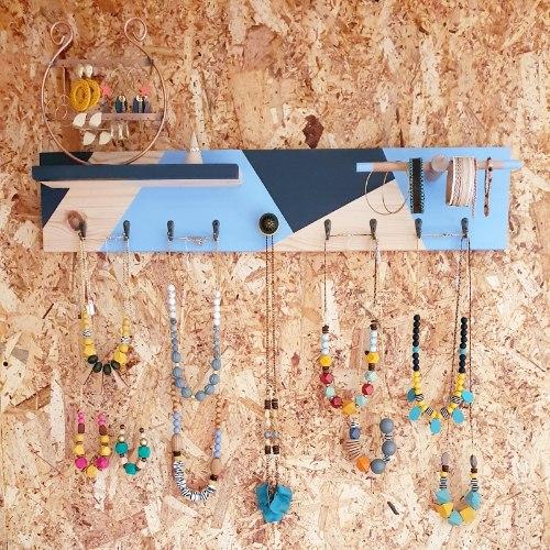 מתלה לתכשיטים נגרות DIY