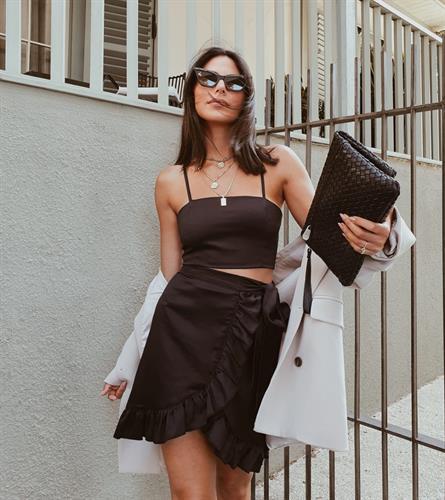 חליפת מרסיי מעטפת - שחורה