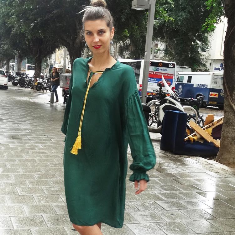 שמלת הולי ירוקה