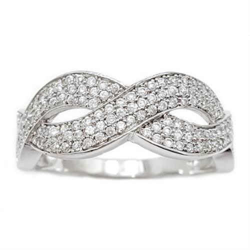 טבעת מכסף משובצת אבני זרקון  RG5950 | תכשיטי כסף | טבעות כסף